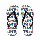 Kawaii Monster Pattern Flip Flops