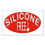Silicone Free Rectangle Sticker