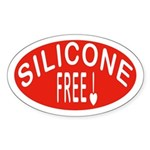 Silicone Free Oval Sticker