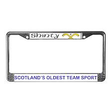 Shinty License Plate Frame