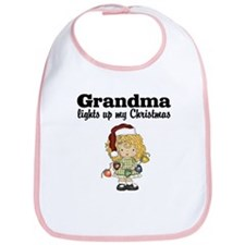 Grandma Christmas Lights Bib