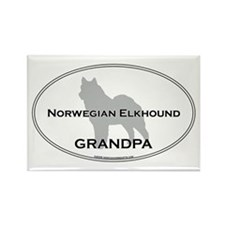 Norwegian Elkhound GRANDPA Rectangle Magnet