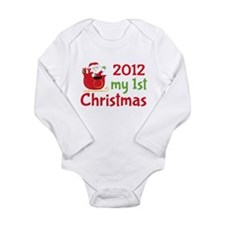 2012 First Christmas Long Sleeve Baby Bodysuit
