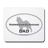 Norwegian Elkhound DAD Mousepad