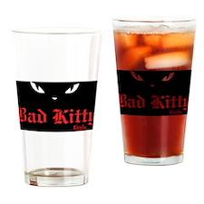 Bad Kitty Eyes Drinking Glass