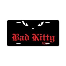 Bad Kitty Eyes Aluminum License Plate