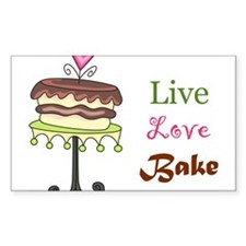 Live Love Bake Stickers