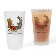 Schmidt House Cartoon Christmas Drinking Glass