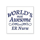"ER Nurse Square Sticker 3"" x 3"""