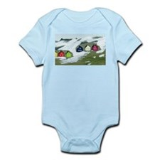 Colorful Winter Houses Infant Bodysuit