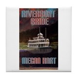 Riverboat Bride Tile Coaster