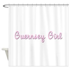 Guernsey Girl on white.png Shower Curtain