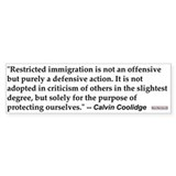 C Coolidge Quote #1<br>Bumper Bumper Sticker