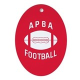 APBA Football Ornament (Oval)