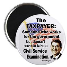 Reagan Quote - Taxpayer works for the government 2