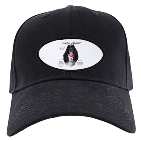 Parti b&w Cocker Spaniel Black Cap