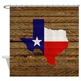 Texas Flag v3 Shower Curtain