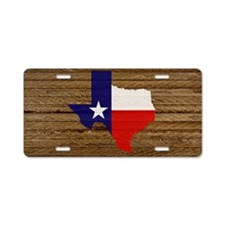 Texas Flag v3 Aluminum License Plate