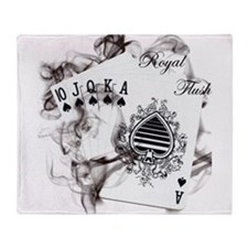 SmokinRoyalFlush.png Throw Blanket