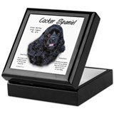 Black Cocker Spaniel Keepsake Box