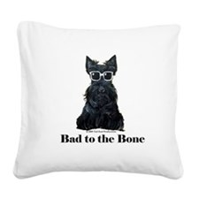 Scottie Bad to the Bone Square Canvas Pillow