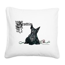 Scottie mug pair 12 2005.png Square Canvas Pillow