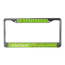 Schutzhund License Plate Frame