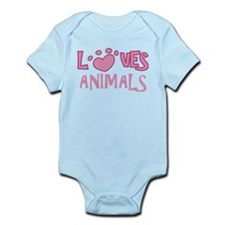 Loves Animals Infant Bodysuit