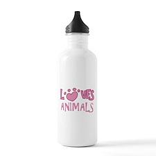 Loves Animals Water Bottle