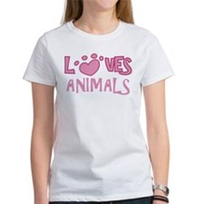 Loves Animals Tee