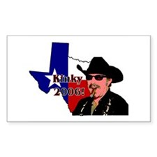 Texas Governor '06 Rectangle Decal