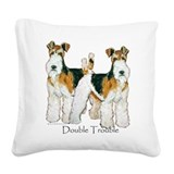 Double Trouble 11x11.png Square Canvas Pillow