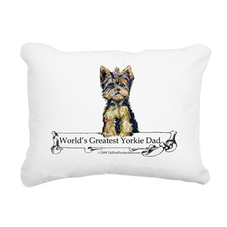 Worlds greatest Dad.png Rectangular Canvas Pillow