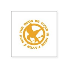 "Hunger Games May the Odds Square Sticker 3"" x 3"""