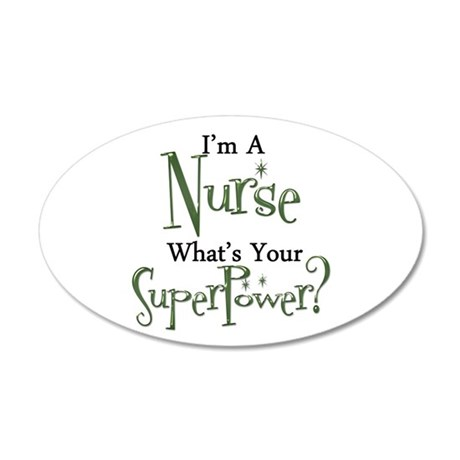Super Nurse 35x21 Oval Wall Decal