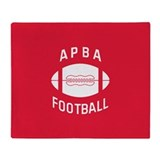 APBA Football Throw Blanket