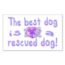 Best Dog Rescued Rectangle Decal