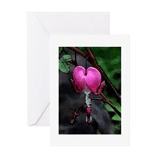 bleeding heart watercolor Greeting Card