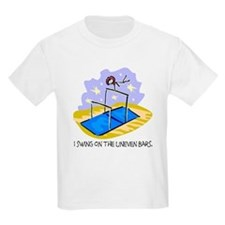 Uneven Beam Stickman Kids T-Shirt