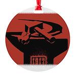 Stylish Hammer & Sickle Round Ornament