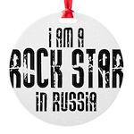 Rock Star In Russia Round Ornament