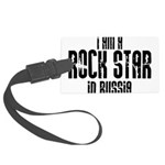 Rock Star In Russia Large Luggage Tag
