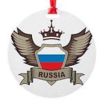 Russia Emblem Round Ornament