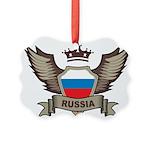 Russia Emblem Picture Ornament