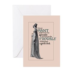 Jane Austen Agreeable Greeting Cards (Pack of 10)