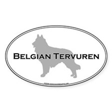 Belgian Tervuren Oval Decal