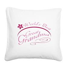 World's Best Great Grandma (pink) Square Canvas Pi