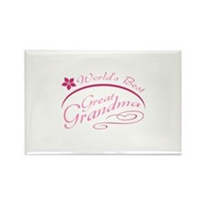 World's Best Great Grandma (pink) Rectangle Magnet