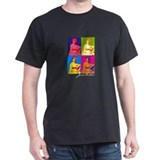 Jane Austen Pop Art Black T-Shirt