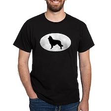 Belgian Tervuren Silhouette Black T-Shirt
